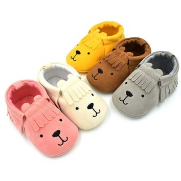Leather Newborn Baby Moccasins