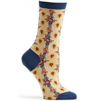 Vintage Flower Stripe Sock
