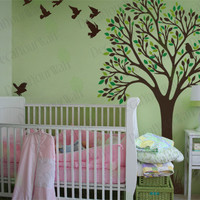 Childrens Baby Nursery Kids Room Large Tree Wall by decalyourwall