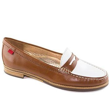 Women's Genuine Leather Made In Brazil East Village Classic Penny Loafer Marc Joseph NY Fashion Shoes