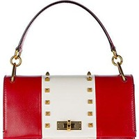 Bally women's leather handbag shopping bag purse moxie red