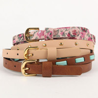 With Love From CA 3 Pack Floral And Stud Belts at PacSun.com