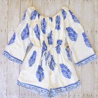 Greek Isle Romper [7486] - $36.40 : Feminine, Bohemian, & Vintage Inspired Clothing at Affordable Prices, deloom