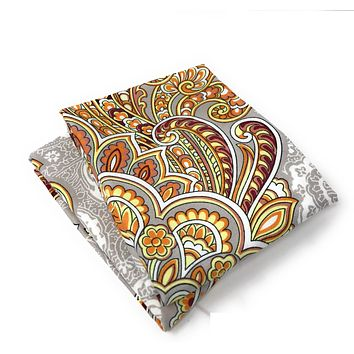 Tache 2 Piece Sunshine Festival White Gold Fancy Patterned Pillow Covers (TA2811-PC)