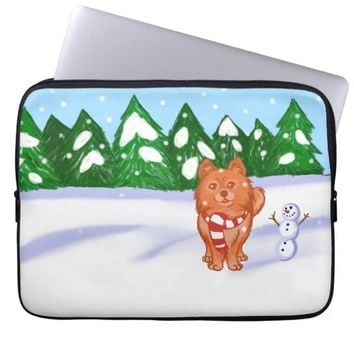 Snow Puppy Computer Sleeves