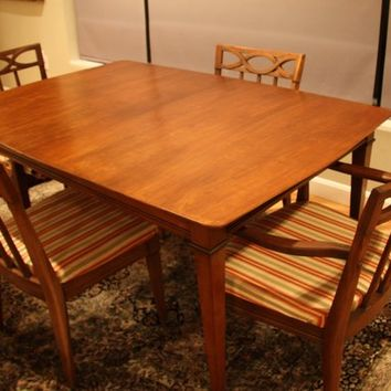 Vintage Mid Century Dining Table and Four Chairs