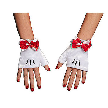 Red Minnie Gloves - Disney - Spirithalloween.com