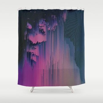 Pink Fringe Shower Curtain by Ducky B