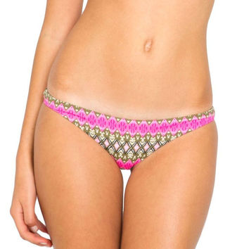 Bella full coverage bottom in pink ikat
