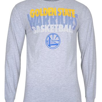 UNK NBA Men's T-Shirt Supreme Long Sleeve Pullover Tee Shirt, Team Logo Gray