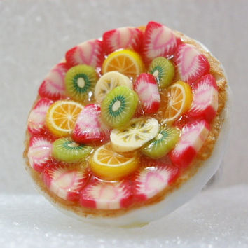 Fruit Tart Ring. Polymer Clay.