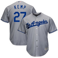 Matt Kemp L.A. Dodgers Majestic Official Cool Base Authentic Collection Player Jersey – Gray