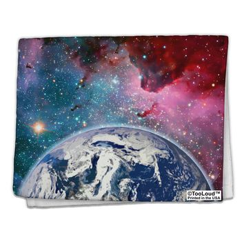 "Fantasy Galactic Earth All Over 11""x18"" Dish Fingertip Towel All Over Print by TooLoud"