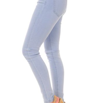 Elyse Denim Leggings, Light Blue