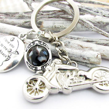 Motorcycle Keychain for Biker