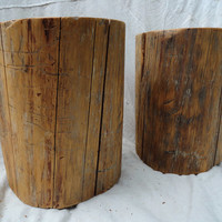 New Year Sale!!! 10% OFF! Use coupon code:Custom Pair of hardwood stump tables