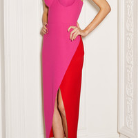 Color Block Corset Midi Dress | Moda Operandi