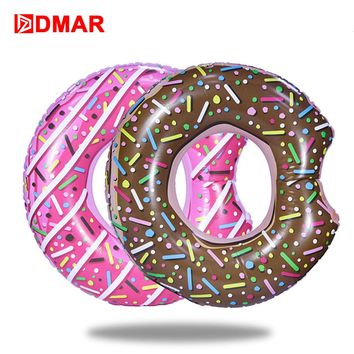 "DMAR 107cm 42"" Inflatable Donut Swimming Ring Giant Pool Float Toys Circle Beach Sea Party Inflatable Mattress Water Adult Kid"