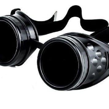Plain Black Goggles DIY Cosplay Welder Glasses Mad Scientist