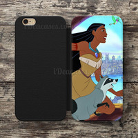 Disney Princess Pocahontas Wallet Case For iPhone 6S Plus 5S SE 5C 4S case, Samsung Galaxy S3 S4 S5 S6 Edge S7 Edge Note 3 4 5 Cases