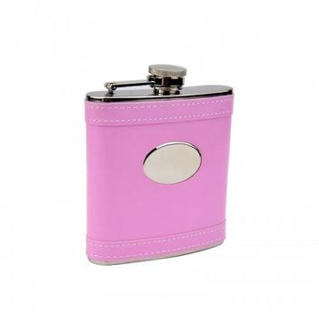 Personalized Pretty in Pink Flask