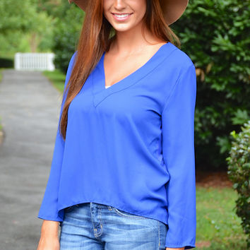 Daily Dose top, blue