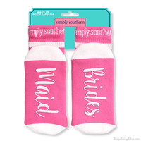 "Simply Southern ""Brides Maid"" Socks"