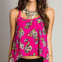 O'Neill Louie Printed Tank - Dragon Fruit