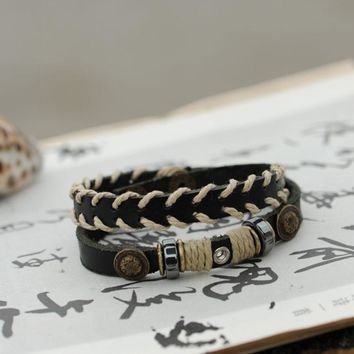 New Arrival Great Deal Shiny Awesome Stylish Gift Hot Sale Leather Punk Jewelry Accessory Bracelet [11312699220]