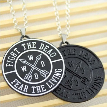 Fear The Dead Fight The Living Statement Necklace