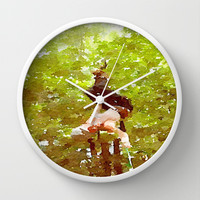 Adventure Wall Clock by Elyse Notarianni