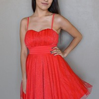 Into The Night Red Skater Dress