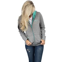Preptec Zip Hoodie in Seafoam by Lauren James