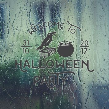 Welcome To 31/10/18 Halloween Party Vinyl Wall Decal - Removable (Indoor)