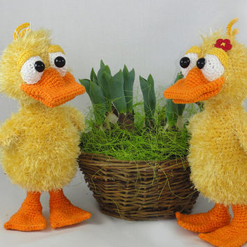 Ducklas and Doris the Ducks - Amigurumi Crochet Pattern