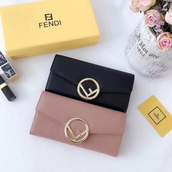 FENDI Women Leather Multicolor Wallet Purse