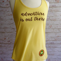 adventure is out there, adventure is out there shirt, wilderness explorer shirt, adventure tank top, disney shirt, Up movie, carl and ellie