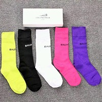 Balenciaga Woman Cotton Knitwear Socks Stockings