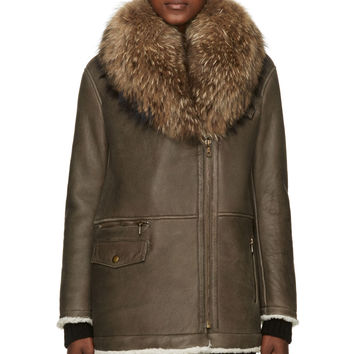 Army By Yves Salomon Brown Shearling And Fur Coat