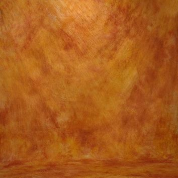 Printed Muslin Texture Abstract Mustard Orange Contrast Backdrop - 110-5