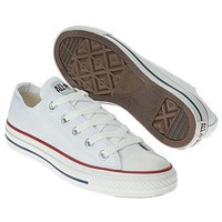 Athletics Converse Men's Chuck Taylor All Star Lo White/White FamousFootwear.com