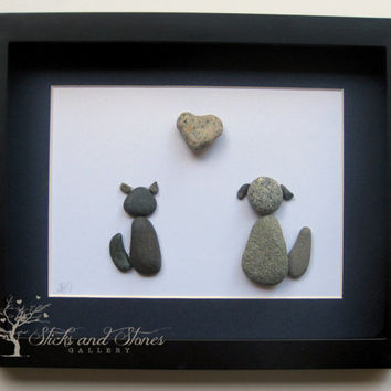 Personalized Animal Lover Gifts - Animal Themed Pebble Art - Pebble Art Pets - Unique Home Decor - Animal Themed Art - Custom Gifts