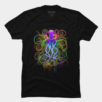 Octopus Psychedelic Luminescence T Shirt By BluedarkArt Design By Humans