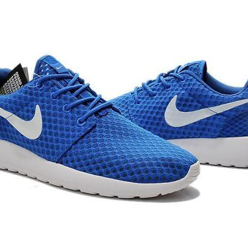 """Nike Roshe Run BR"" Unisex Sport Casual Honeycomb Net Cloth Breathable Sneakers Couple"