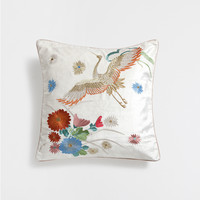 EMBROIDERED VELVET CUSHION COVER - Cushions - Decoration | Zara Home United Kingdom