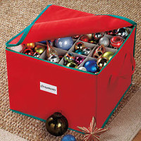 Christmas Ornament Storage Box Organizer 3 Layers W/Compartments For Protection