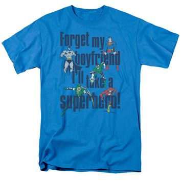 Dc - Forget My Boyfriend Short Sleeve Adult 18/1