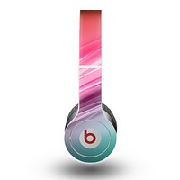 The Red to Green Electric Wave Skin for the Beats by Dre Original Solo-Solo HD Headphones