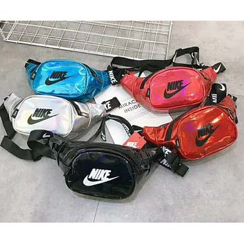 NIKE canvas Waist Bag Multi Pocket Shoulder Bag Crossbody Bag