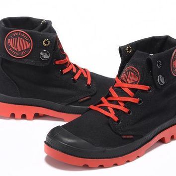 Palladium Baggy Lll Men Turn High Boots Black Red